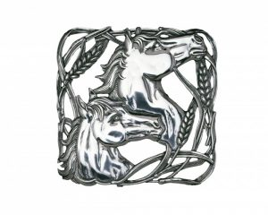 Horse with Wheat Trivet
