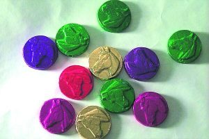 Horse Head Chocolate Foil Wrapped Coins
