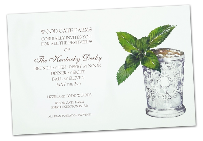 Mint Julep Note Card