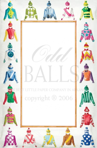 Jockey Silks Letter Sheets