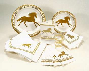 Gold Horse Paper Plates