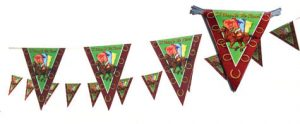 Horse Racing Triangle Pennant-String