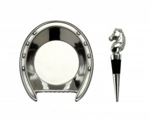 Horseshoe Wine Coaster & Stopper Set