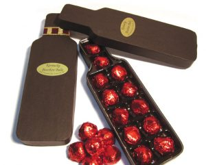 Bottle Shaped Box with Bourbon Balls