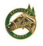 Ky Derby Gold Horse Lapel Pin