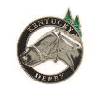 Silver Horse Head Lapel Pin
