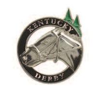 Silver Horse Head Lapel Pin