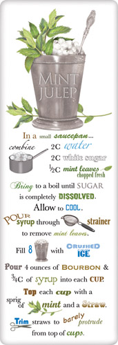 Mint julep recipe towel