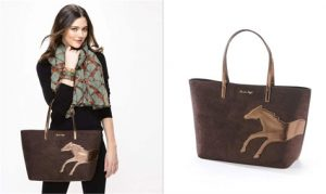 Horse Brown Suede Tote Bag