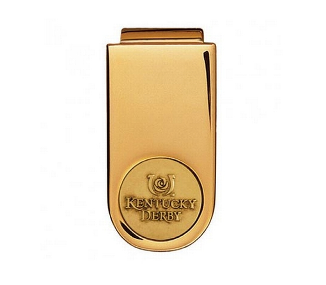 Gold finish money clip