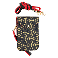 Black Crossbody Bag with Gold Bits