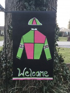 Jockey silks Garden Flag