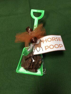 Horse Poop in green shovel