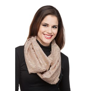 Bit Infinity taupe scarf