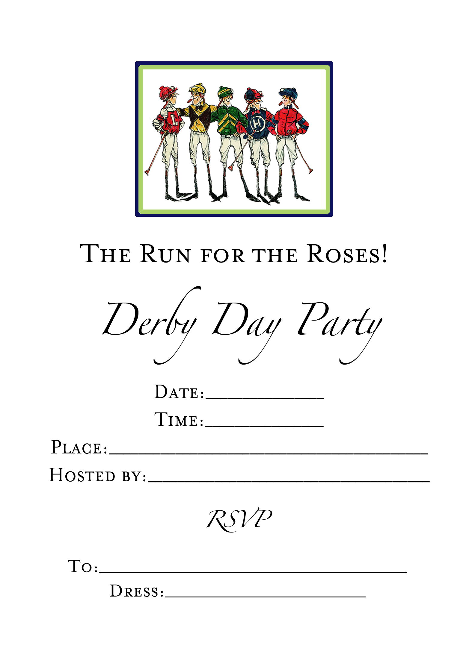 Skinny Jockeys Invitations