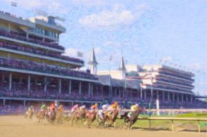 Kentucky Derby First turn Coaster