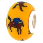 Horse and Jockey Bead