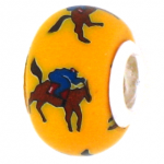 Horse and Jockey Bead