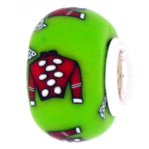Red Jockey Silk Pandora Bead