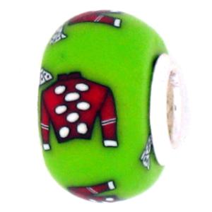 Red Jockey Silk Pandora Bead