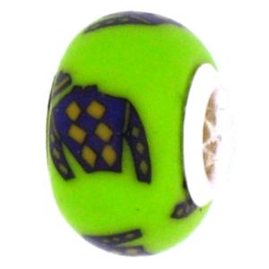 Purple Jockey Silk Pandora Bead