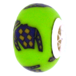 Purple Jockey Silk Pandora Bead