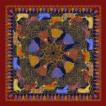 Multi colored Equestrian scarf