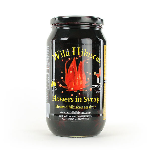 edible hibiscus flowers in syrup