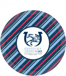 """7"""" KY Derby paper plates"""