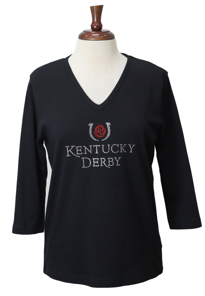 Black T with Derby Bling