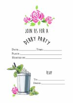Derby Party Invite