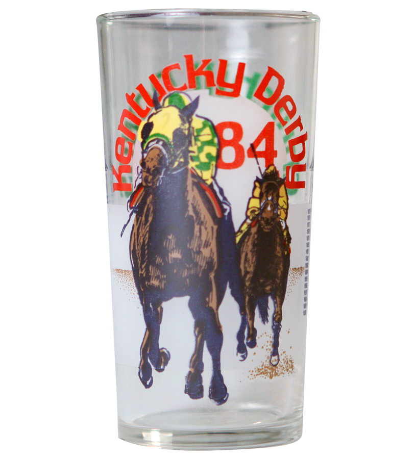 Vintage 128th Kentucky Derby Glass