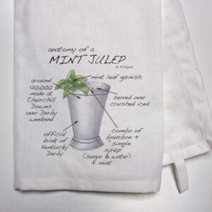 Anatomy of Mint Julep Tea Towel