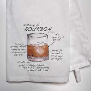 Anatomy of Bourbon T Towel