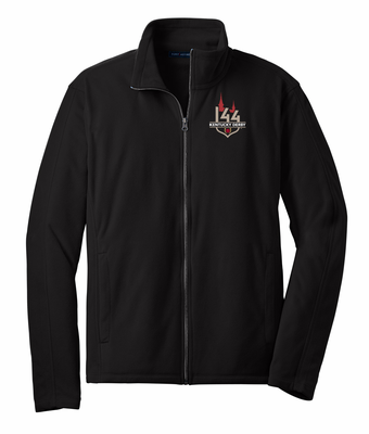 Black Full Zip Microfleece Jacket