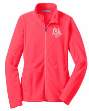 Hot Coral Fleece Jacket