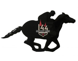 horse with rider lapel pin 144
