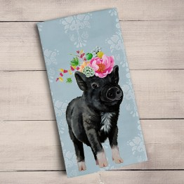 Adorable Pig Tea Towel