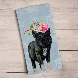 Adorable Pig Tea Towel