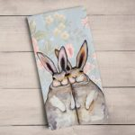 Bunnies tea towel
