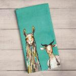 Donkey, llama and goat