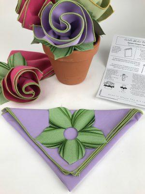 Lilac Napkin w/ cuff