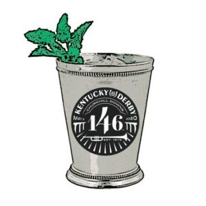 Mint Julep Lapel Pin silver